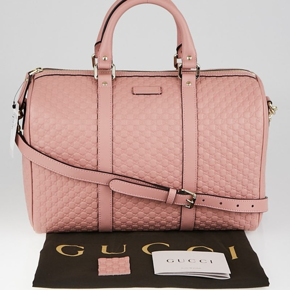 47e2d9af0488 Gucci Bags | New Pink Leather Micro Gg Ssima Boston | Poshmark